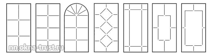 Виды оформления пластикового окна