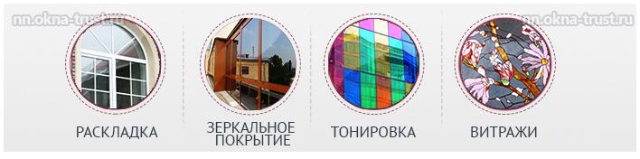 Изготовление стеклопакетов с различным оформлением