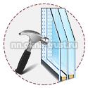 Ударостойкие окна в доме из бруса