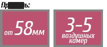 Профиль от 58мм с 3-5 камерами