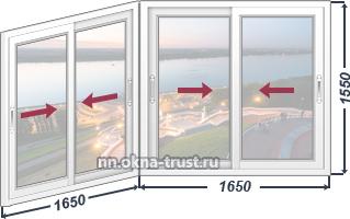 Стоимость алюминиевых окон